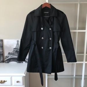 Express black trench coat